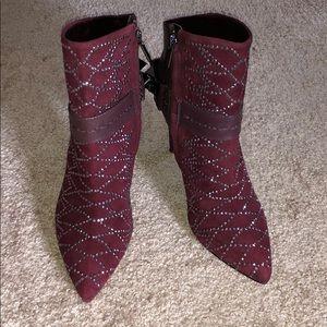 Sam Edelman Burgundy Ankle Boots
